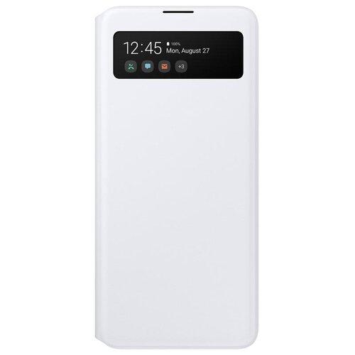 Samsung S View púzdro EF-EA715PW pre Galaxy A71, biele