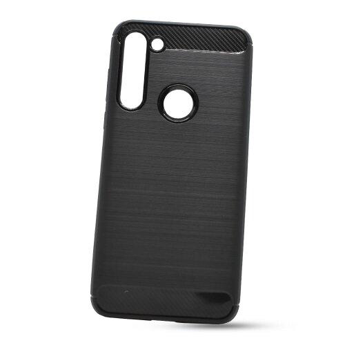 Puzdro Carbon Lux TPU Motorola Moto G8 Power - čierne