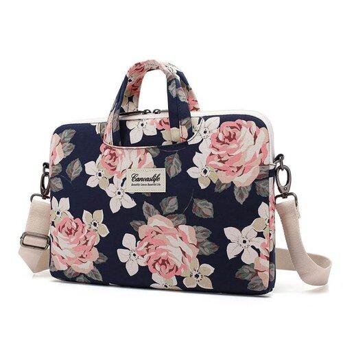Taška CanvasLife Briefcase pre Macbook Pro 15, Univerzálna - navy rose