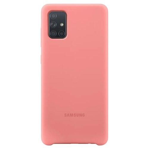 EF-PA715TPE Samsung Silikonový Kryt pro Galaxy A71 Pink