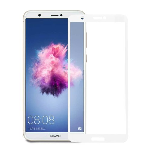 Ochranné sklo MyScreen Huawei P Smart celotvárové - biele
