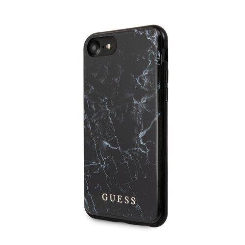 Puzdro Guess pre iPhone 8/SE2020 GUHCI8PCUMABK silikónové, čierne