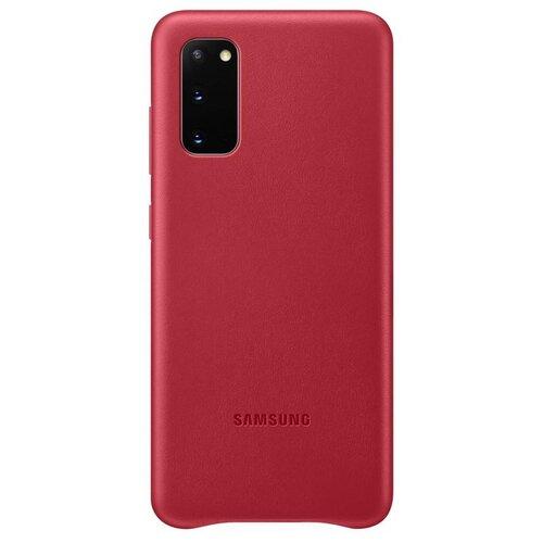 EF-VG980LRE Samsung Kožený Kryt pro Galaxy S20 G980 Red (EU Blister)