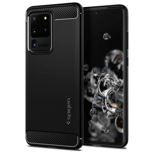 Puzdro Spigen Rugged Armor Samsung Galaxy S20 Ultra G988 - čierne