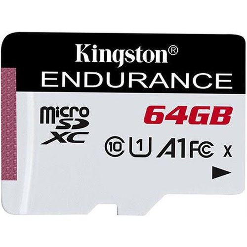 KINGSTON microSDXC karta 64GB High Endurance Class 10 UHS-I U1 (r95MB/s, w30MB/s) bez adaptéra
