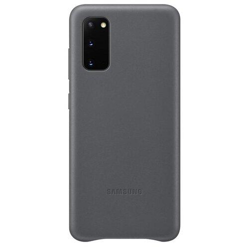 EF-VG980LJE Samsung Kožený Kryt pro Galaxy S20 Gray