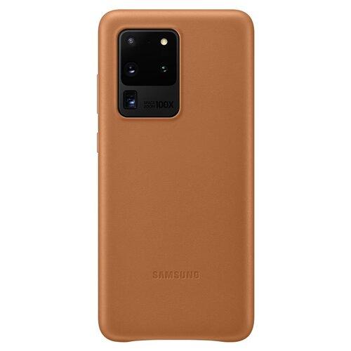EF-VG988LAE Samsung Kožený Kryt pro Galaxy S20 Ultra G988 Brown (EU Blister)