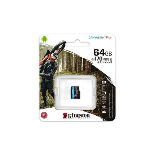 MicroSDXC karta KINGSTON 64GB Canvas Go Plus (bez adaptéru)