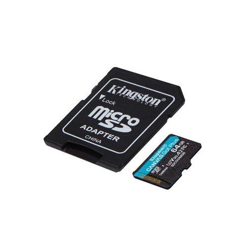 MicroSDXC karta KINGSTON 64GB Canvas Go Plus + adaptér