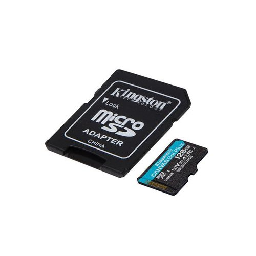 KINGSTON microSDXC karta 128GB Canvas Go Plus + adaptér