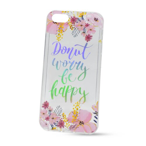 Puzdro Flexi Color iPhone 5/5S/SE - Dont worry be happy