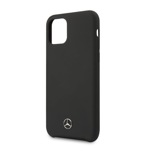 MEHCN61SILBK Mercedes Liquid Silikonový Kryt pro iPhone 11 Black