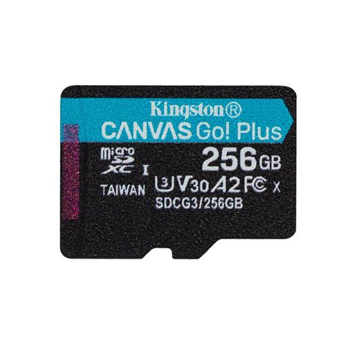 KINGSTON micro SDXC karta 256GB Canvas Go Plus, bez adaptéra