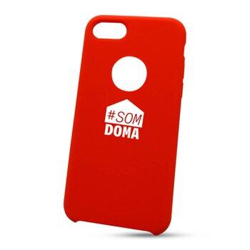 """Puzdro na Apple iPhone 7/8 """"som doma"""" - červené (s výrezom na logo)"""