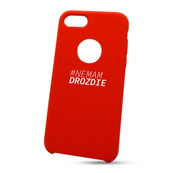 """Puzdro na Apple iPhone 7/8 """"nemám droždie"""" - červené (s výrezom na logo)"""