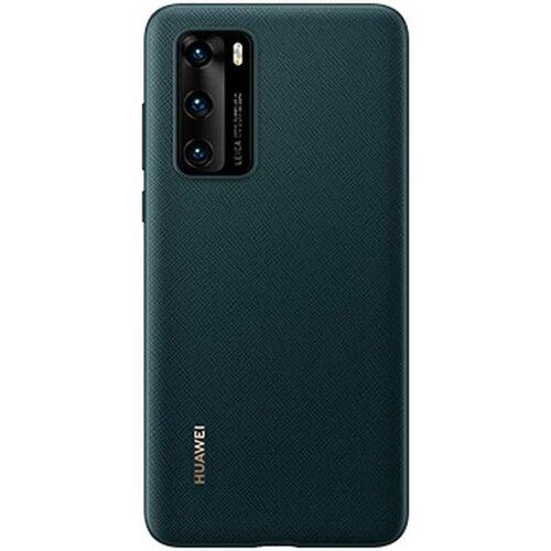 Huawei Original PU Pouzdro pro Huawei P40 Ink Green