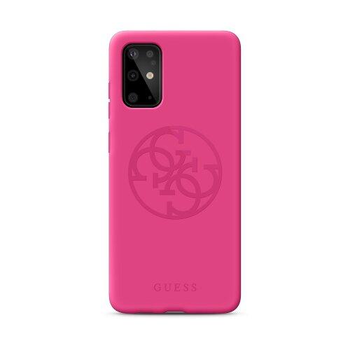 Puzdro Guess pre Samsung Galaxy S20 Ultra GUHCS69LS4GFU silikónové, ružové