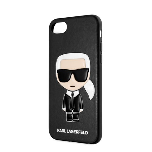 Puzdro Karl Lagerfeld pre iPhone 8/SE2020 KLHCI8IKPUBK imitácia kože, čierne