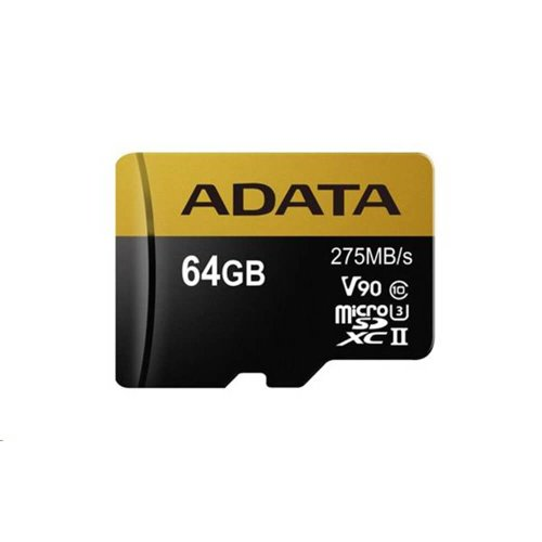 A-DATA microSDHC/SDXC UHS-II U3 karta 64GB class 10 Ultra High Speed + adaptér