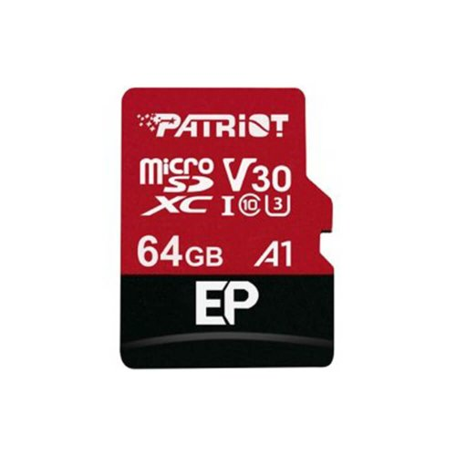 PATRIOT microSDXC 64GB V30 A1, class 10 U3 100/80MB/s + adapter