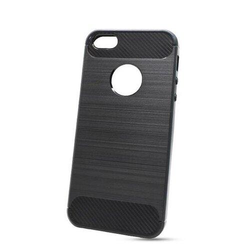 Puzdro Carbon Lux TPU iPhone SE 2020 - čierne