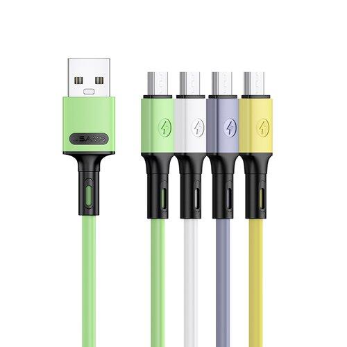 Dátový kábel USAMS SJ435 U52 MicroUSB 1m Zelený (EU Blister)