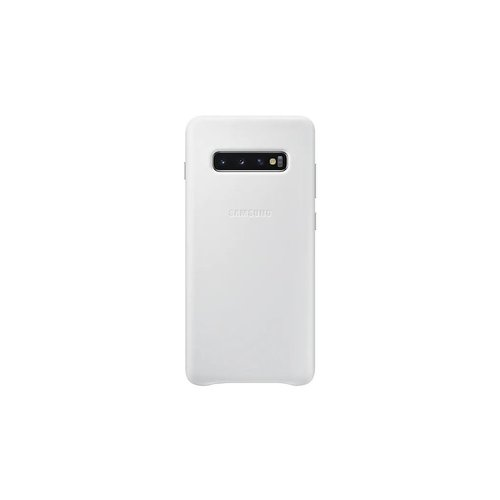 EF-VG975LWE Samsung Leather Cover White pro G975 Galaxy S10 Plus (Pošk. Blister)