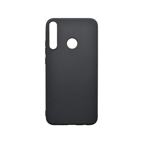 Huawei P40 Lite E čierne gumené puzdro, matné