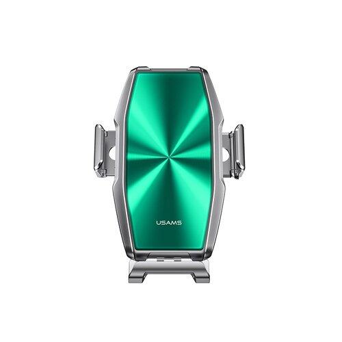 Držiak do auta s bezdrôtovým nabíjaním USAMS CD134 FOD Zenya 15W - zelená/strieborná