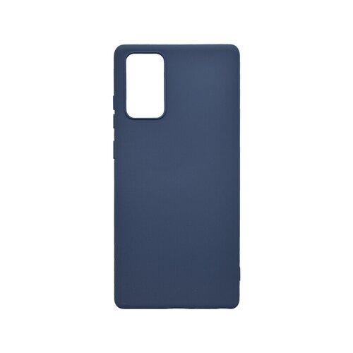 Samsung Galaxy Note 20 tm. modré gumené puzdro, matné