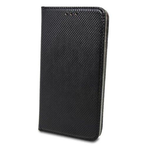 Huawei Y7P čierna bočná knižka, vzorovaná