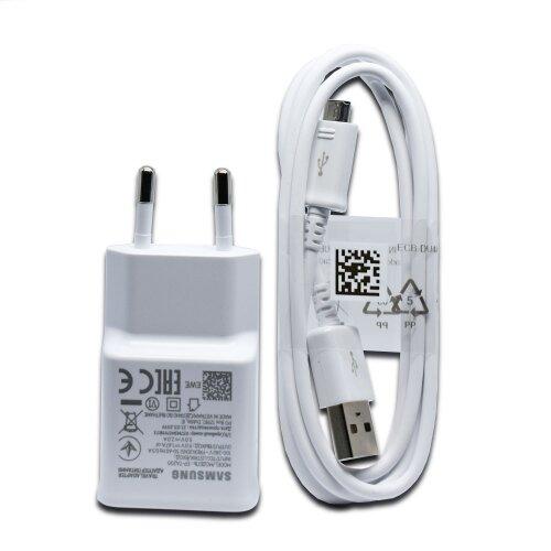 Nabíjačka Samsung EP-TA200EWE 15W + Kábel ECB-DU4AWE MicroUSB 1m Biela (Bulk)