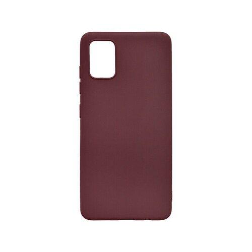 Matné silikónové puzdro Samsung Galaxy A51 bordové
