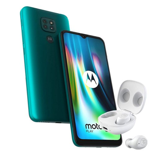 Motorola Moto G9 Play 4GB/64GB Dual SIM, Zelený + Moto Buds - SK distribúcia