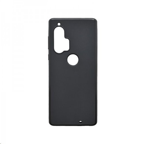 Motorola Edge Plus čierne gumené puzdro, matné