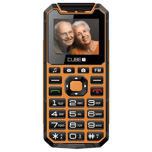 CUBE1 S400 Senior Dual SIM, Oranžový