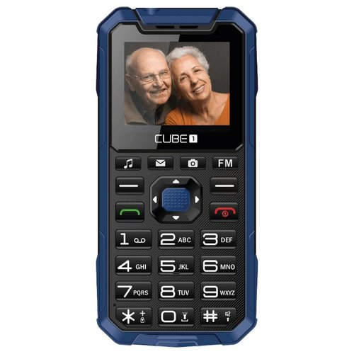 CUBE1 S400 Senior Dual SIM, Modrý