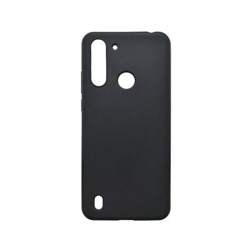 Motorola G8 Power Lite čierne gumené puzdro, matné