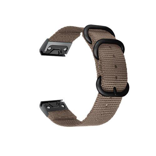 Tactical 678 Nylonový náramok pre Garmin Fenix 5X/6X QuickFit 26mm Hnedý