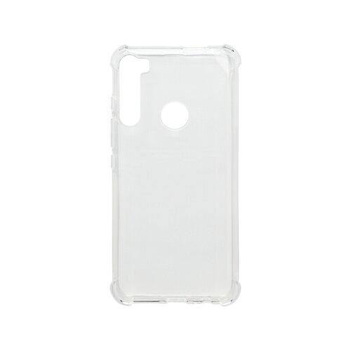 Motorola One Fusion Plus priehľadné gumené puzdro, Corner
