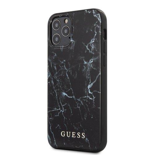 Puzdro Guess pre iPhone 12 Mini (5.4) GUHCP12SPCUMABK silikónové, čierne