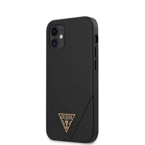 Puzdro Guess pre iPhone 12 Mini (5.4) GUHCP12SVSATMLBK silikónové, čierne