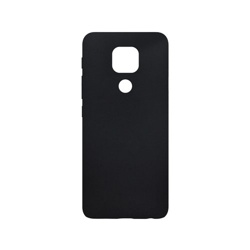 Motorola G9 Play čierne gumené puzdro, matné