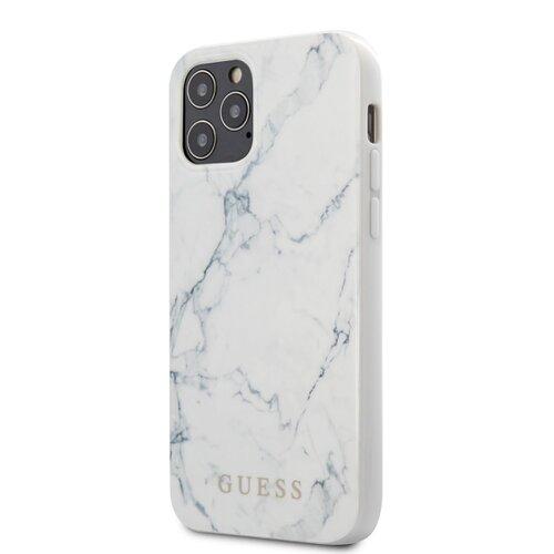 Puzdro Guess pre iPhone 12 Mini (5.4) GUHCP12SPCUMAWH silikónové, biele
