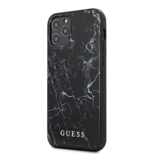 Puzdro Guess pre iPhone 12 Pro Max (6.7) GUHCP12LPCUMABK silikónové, čierne