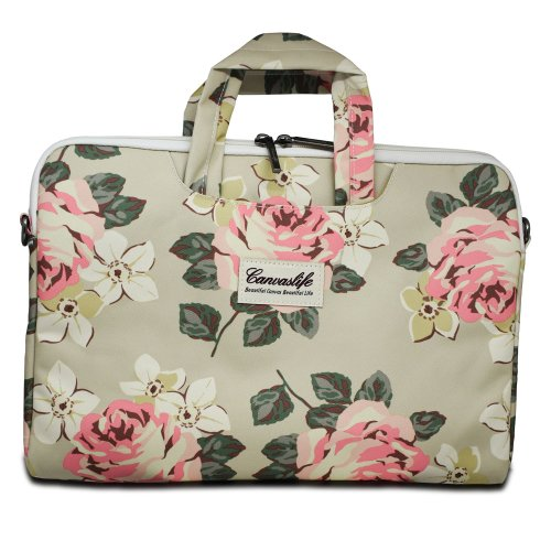"Taška CanvasLife Briefcase pre Notebook 15""-16"", Univerzálna - white rose"