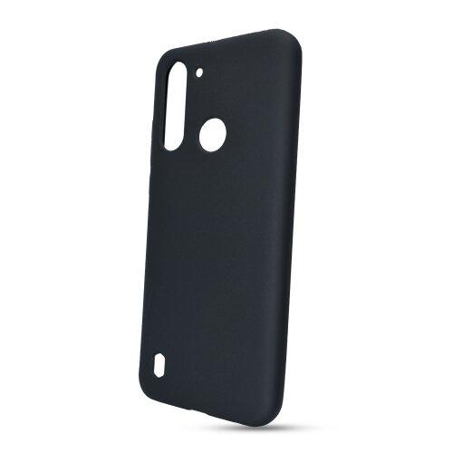Puzdro Solid Silicone TPU Motorola G8 Power Lite - čierne