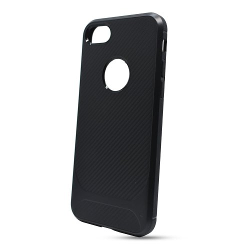 Puzdro Carbon Protect TPU iPhone 7/8/SE 2020 - čierne