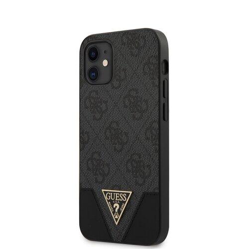 Puzdro Guess pre iPhone 12 Mini (5.4) GUHCP12SPU4GHBK silikónové, sivé