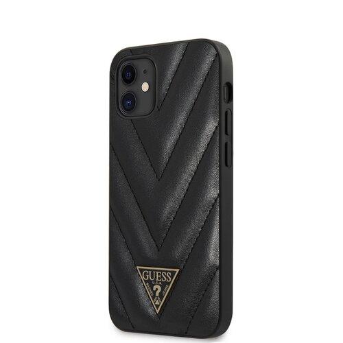Puzdro Guess pre iPhone 12 Mini (5.4) GUHCP12SPUVQTMLBK silikónové, čierne